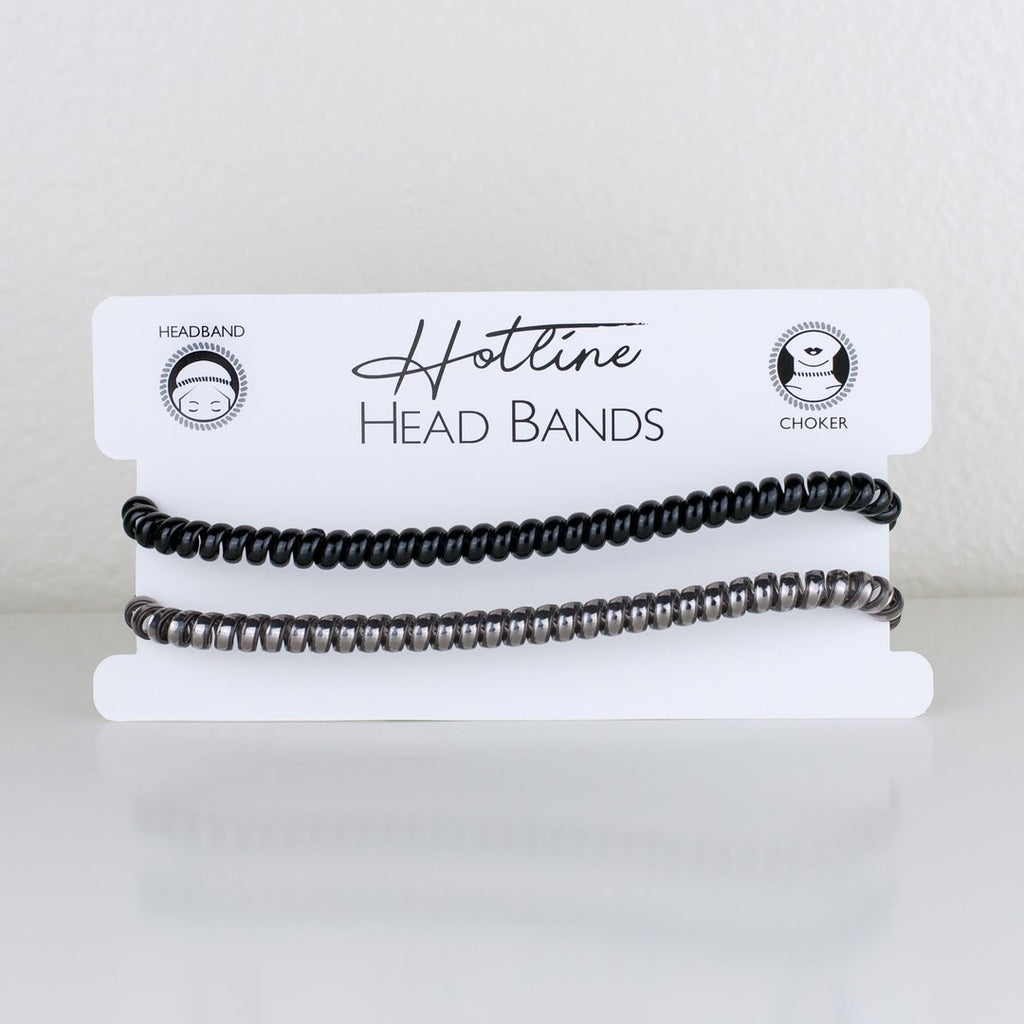 Black & Gray Headband- Hotline Hair Ties