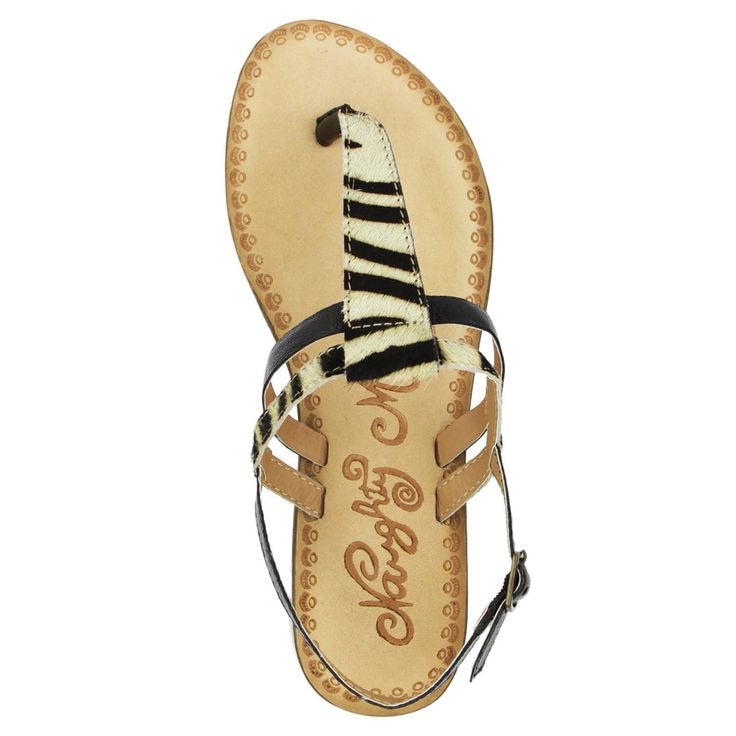 Naughty Monkey Gemma Sandals- Zebra Print