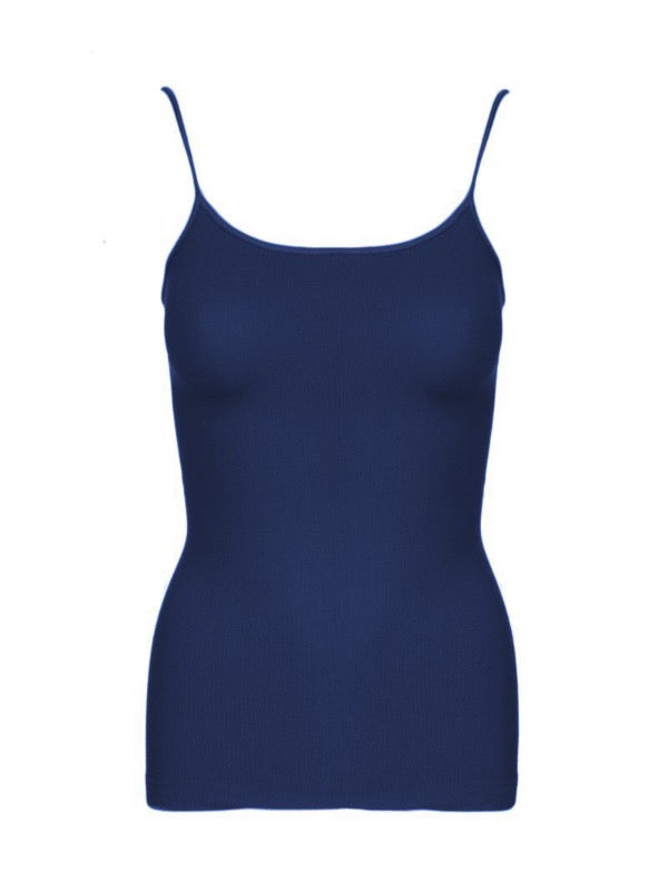 Ribbed Camisole- Navy