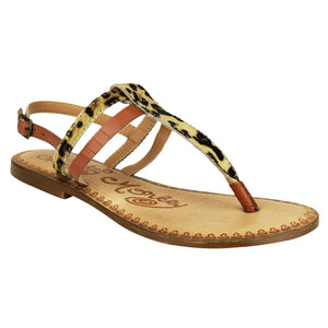 Naughty Monkey Gemma Sandals- Leopard Print