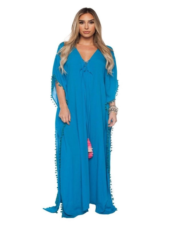 Buddylove Zora Pom Pom Maxi Dress