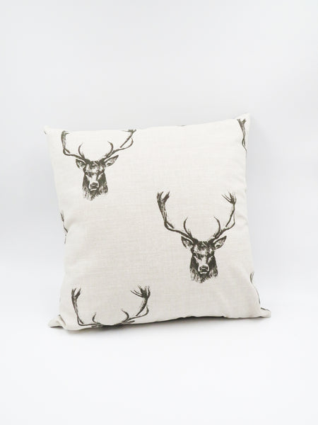 Stag Head Printed Cushion
