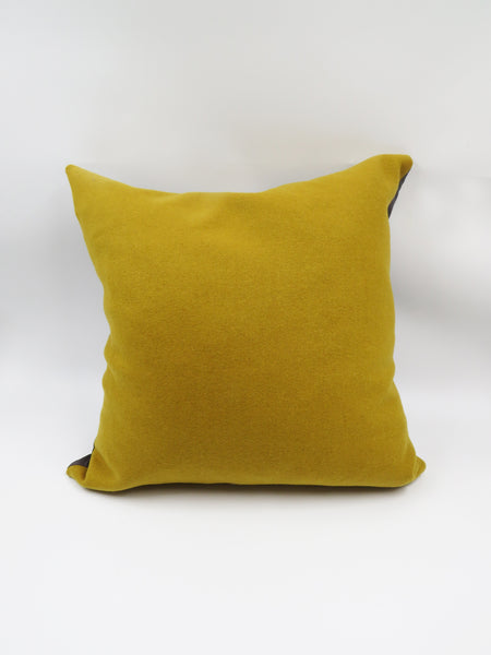 Mustard Wool Cushion Cover
