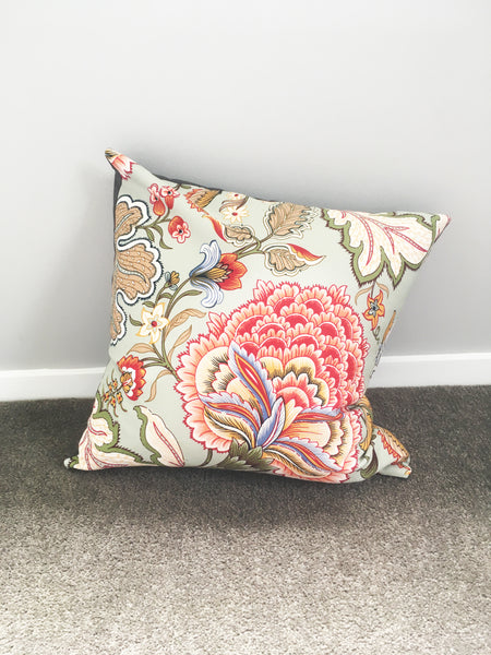 Mint Floral Cushion Cover