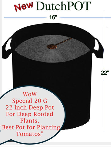 DynaPOT 20 Gallon Garden Planting Aeration Fabric Container