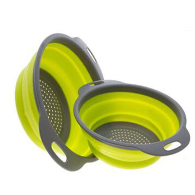 Foldable Silicone Strainers - Pack of 2