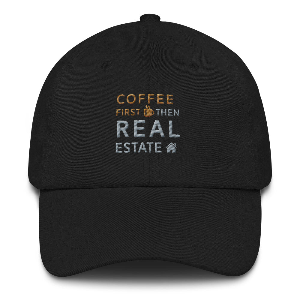 Coffee First Then Real Estate Dad Cap