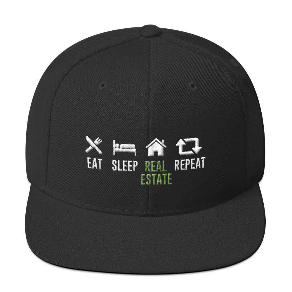 Eat Sleep Real Estate Repeat Snapback