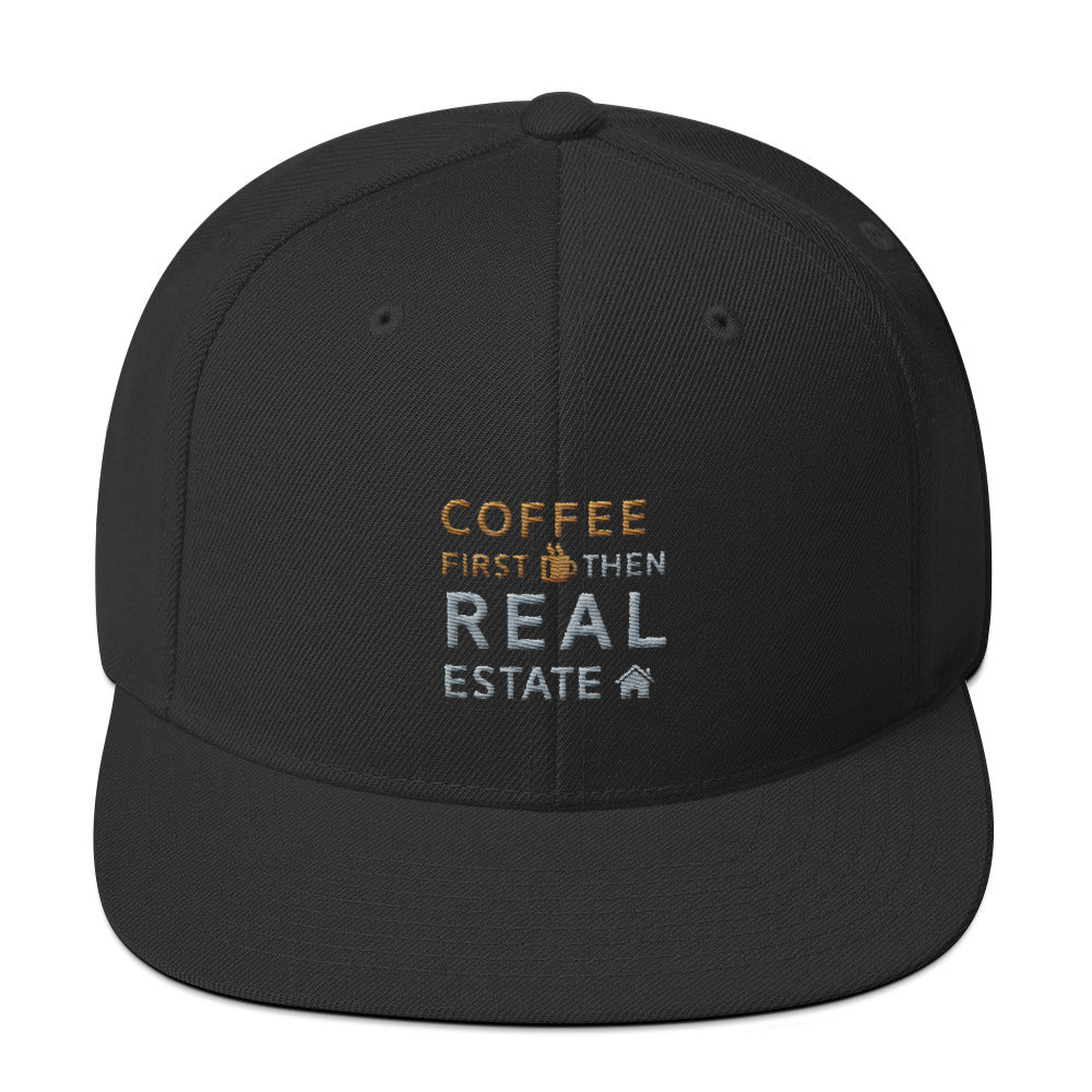 Coffee First Then Real Estate Snapback