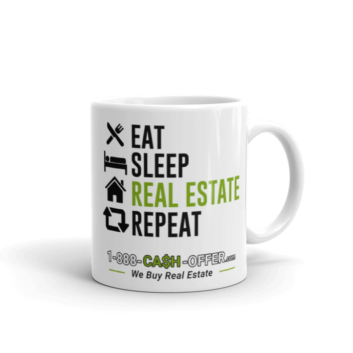 Eat Sleep Real Estate Repeat Mug