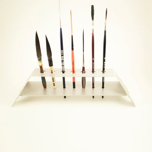 ALPHA 6 VERTICAL BRUSH HOLDER - 7 BRUSH SLOTS