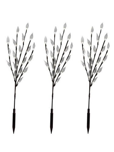 60 LED Solar LED Decorative Branches (Set of 3) - Solar Statues
