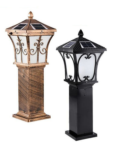 Aluminium Decorative Solar Bollard Light - Solar Statues