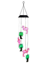 Color Changing Solar Flamingo Wind Chime Dangler - Solar Statues
