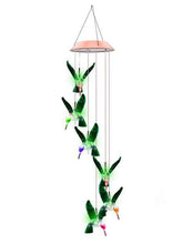 Colour Changing Solar LED Hummingbird Wind Chime Light - Solar Statues