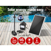 30W Solar Fountain with Battery & LED Lights - Solar Statues