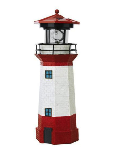 Lighthouse with Rotating Solar LED Light 29cm - Solar Statues