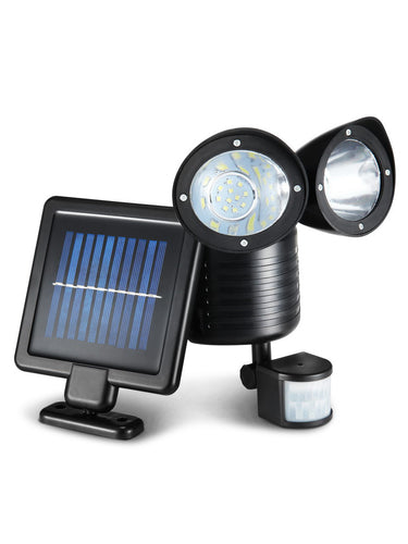 22 LED Solar Powered Dual Flood Lamp - Solar Statues