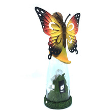Fairy with Solar Flowers in Glass - Solar Statues