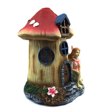 Fairy Mushroom House with Solar Light - Solar Statues