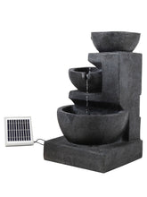 3 Level Solar Bowl Fountain - Solar Statues