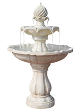 3 Tier Fountain with Solar Panel - Ivory - Solar Statues