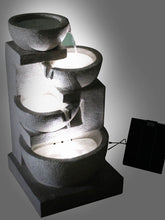 4 Level Solar Bowl Fountain - Solar Statues