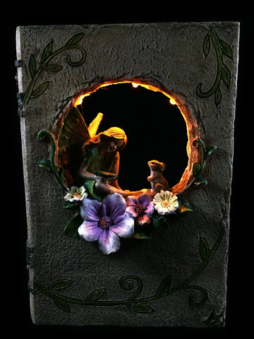 Fairy Story Book with Solar Lights - Solar Statues