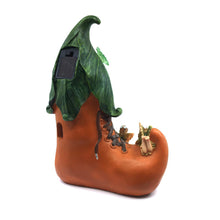 Fairy Shoe House with Solar Lights - Solar Statues