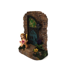 Fairy Door with Solar Lights - Solar Statues