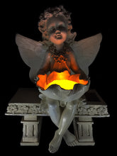 Sitting Fairy with Magical Solar Light - Solar Statues