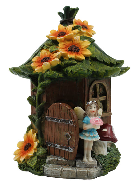 Fairy Treehouse with Solar Light - Solar Statues