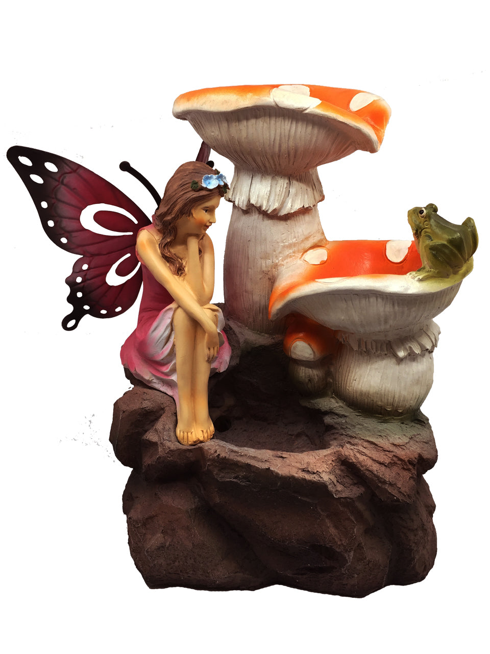 Fairy with Solar Water Fountain - Solar Statues