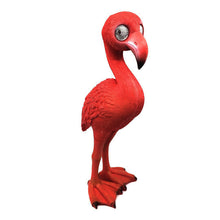 Pink Flamingo with Solar Eyes - Solar Statues