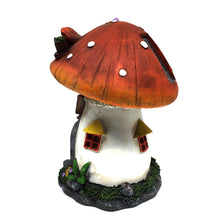 Gnome Mushroom House with Solar Light - Solar Statues