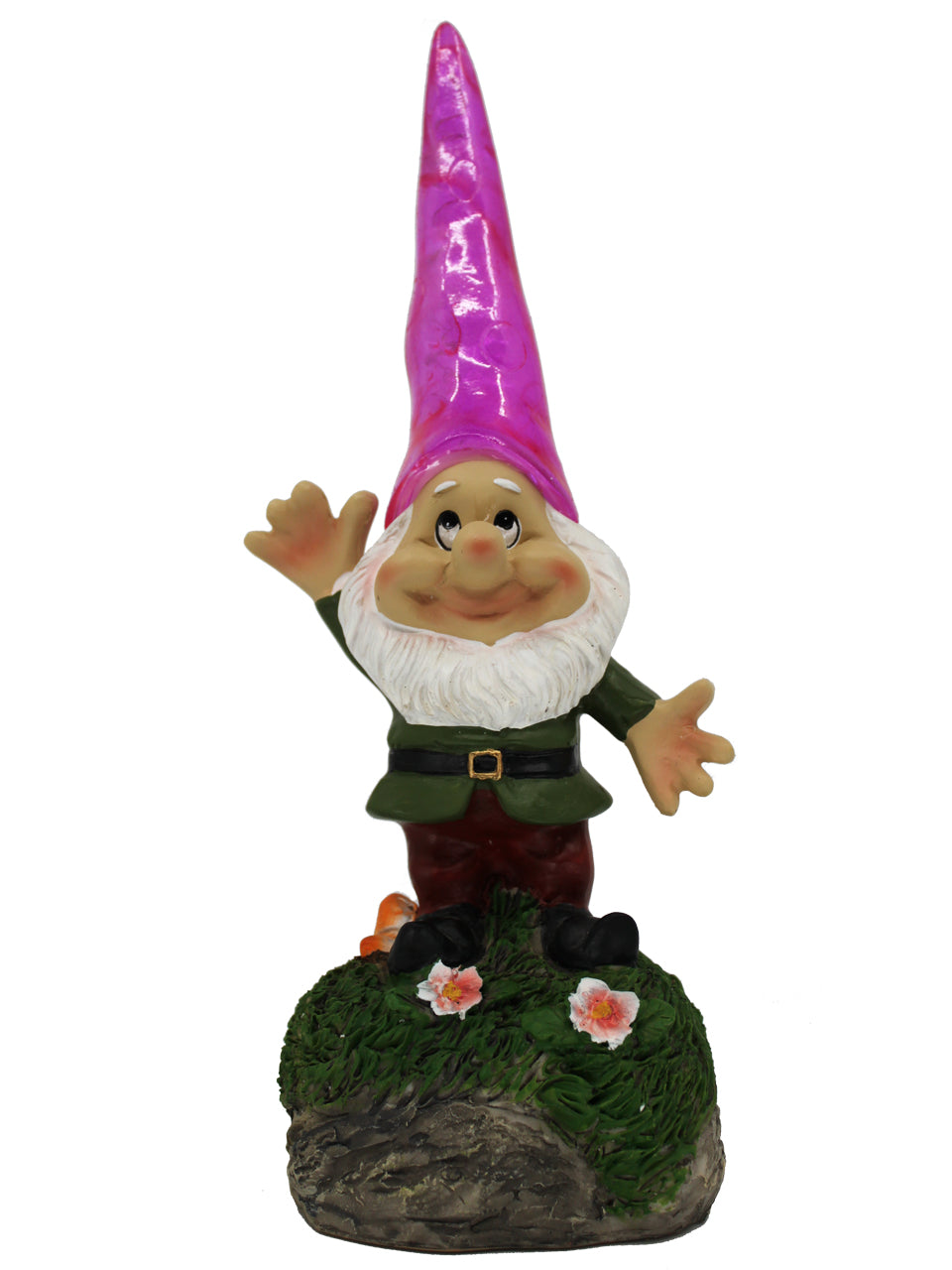 Garden Gnome with Solar Hat - Solar Statues