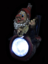 Solar Guitar Gnome with Rain Gauge - Solar Statues