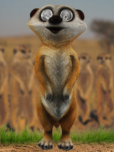 Standing Meerkat with Solar Eyes - Solar Statues