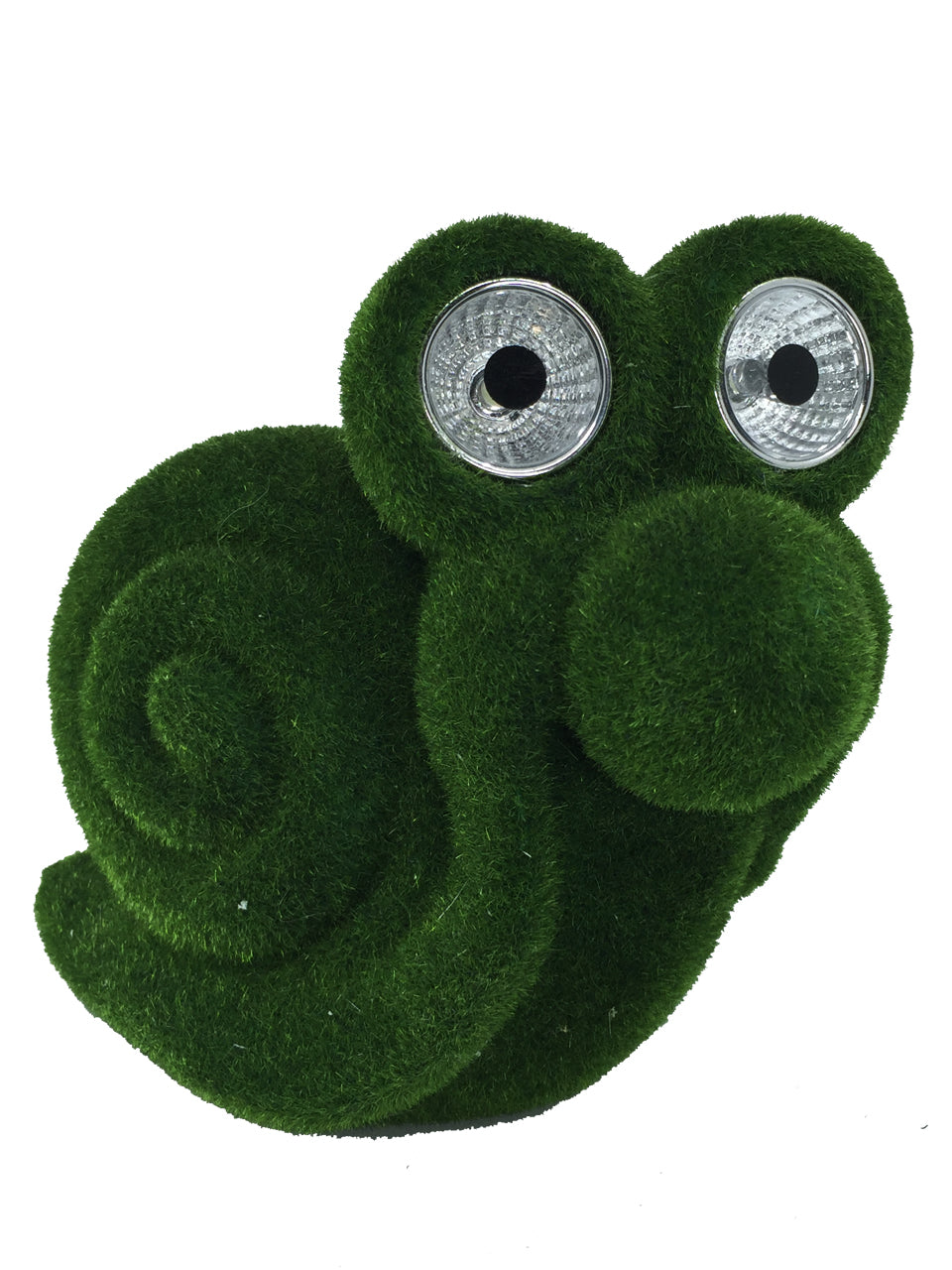 Moss Covered Snail with Solar Eyes - Solar Statues