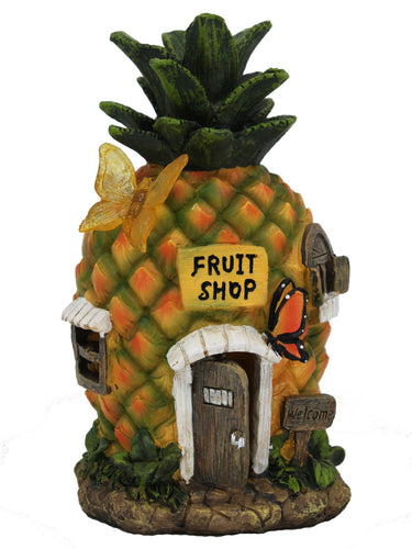 Pineapple House with Solar Light - Solar Statues