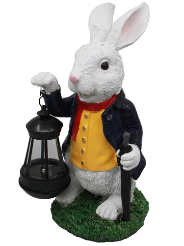Rabbit with Solar Lantern - Solar Statues