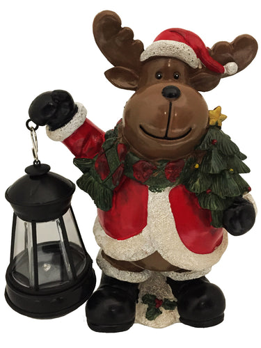 Reindeer with Solar Lantern - Solar Statues