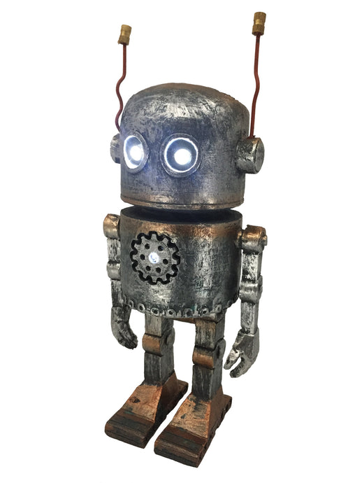 Robot with Solar Lights - Solar Statues