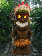 Tiki Warrior with Solar Eyes - Solar Statues