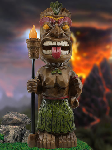 Tiki Warrior with Solar Torch - Solar Statues