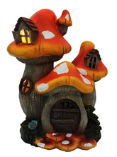 3 Level Mushroom House with Solar Light - Solar Statues