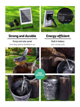 Solar LED Fountain with Battery Backup - Solar Statues