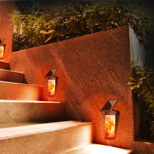 Solar LED Flickering Flame Wall Light - Solar Statues