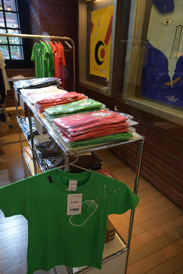 yokohama-akarenga-vicreativeshop-inink-bottle-tshirt-display