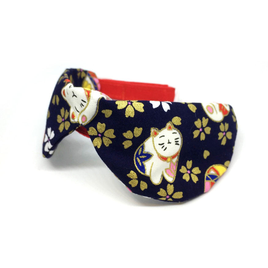 Limited Edition Sakura and Lucky Cat Print Collar
